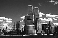 [View of World Trade Center from the Hudson River]