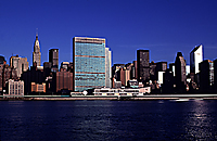 [East River View of United Nations, Chrysler Building and Citicorp]