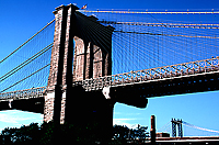 [Brooklyn Bridge with Manhattan Bridge in Distance]