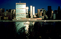 [Sparkling Sunrise View of United Nations]