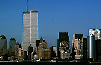 [View of Twin Towers from Lower Manhattan Harbor]