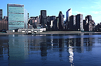 [United Nations and Citicorp Reflecting in Tranquil East River]