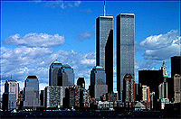 [Twin Towers from Lower New York Harbor]