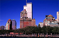 [Twin Towers with Battery Park]