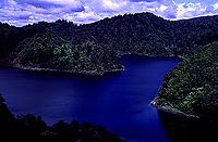 [Sapphire Blue Lake in Lake Waikaremoana Park]