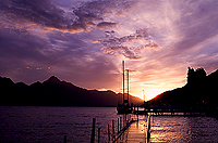 [Sunset in Queenstown]