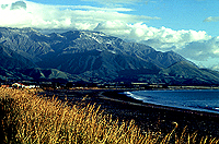[View of Mountains Outside Kaikoura]